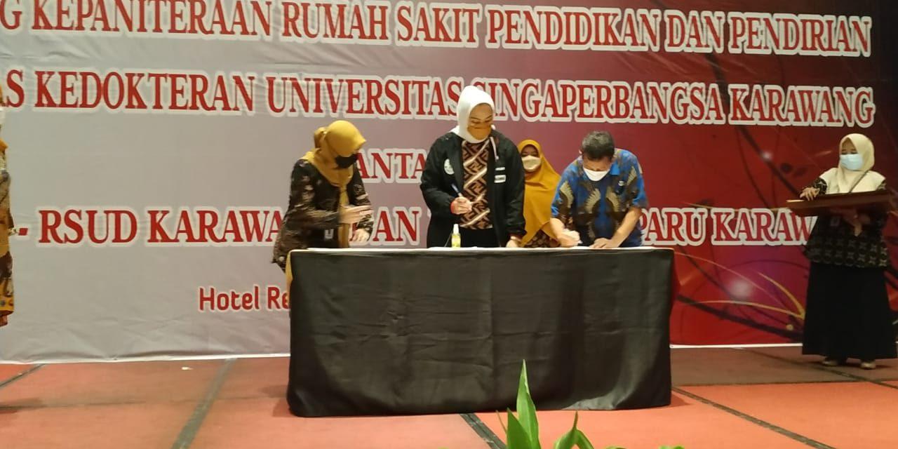 Bersama RSUD dan Rumah Sakit Paru, Unsika Tandatangani PKS Pendirian Fakultas Kedokteran