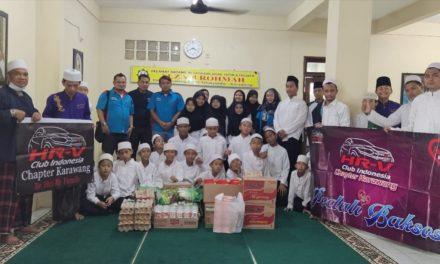 Sambangi Yayasan Alza El-Rohmah, HCI Karawang Berikan Santunan